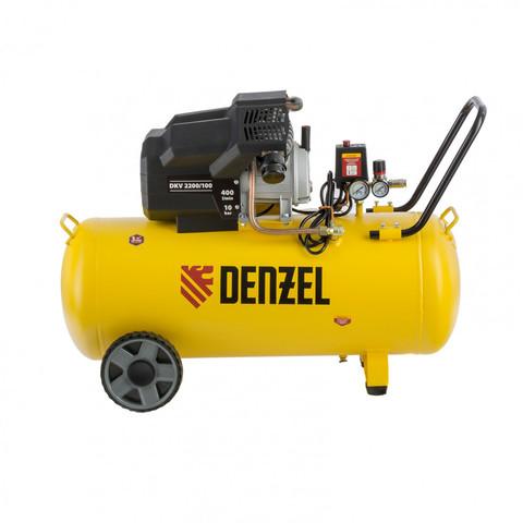 Компрессор воздушный DKV2200/100, Х-PRO 2.2 кВт, 400 л/мин, 100 л Denzel