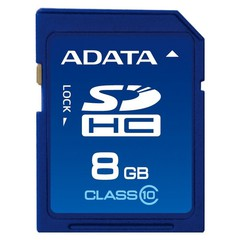 Карта памяти ADATA SDHC 8Gb Class 10