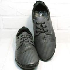 Летние спортивные туфли мокасины с перфорацией мужские Ridge Z-430 75-80Gray.