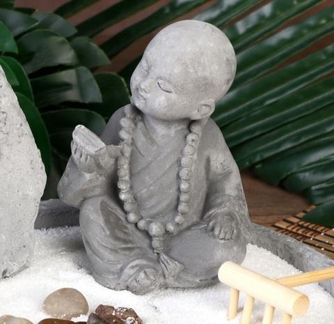 Сад Дзен Маленький будда в саду камней 11,5*26*21 см