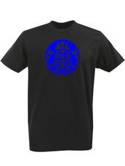 Футболка с однотонным принтом Череп (Скелет) черная 00126