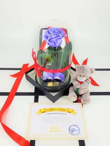 Комплект подарочный Premium Оптом (Выс*Диам*Бутон 27*15*7-8см)Цвет сиреневый