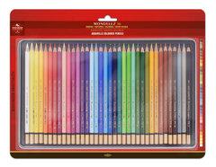 Набор художественных акварельных карандашей MONDELUZ 36 цветов в металлической коробке, защищенной блистером