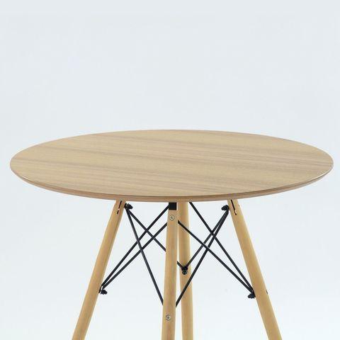 Кухонный интерьерный круглый стол Eames DSW Cosmo, MDF (D90см), цвет шпон натуральный