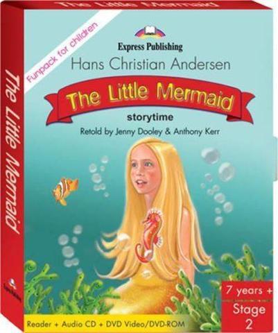 The Little Mermaid. Fun pack (В комплект входит книга для чтения + СD c аудиосопровождением + DVD  c мультфильмом)