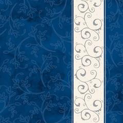 Салфетки бумажные AHA Классика. Серебряная полоса 33x33 см синие 3-слойные 20 штук в упаковке