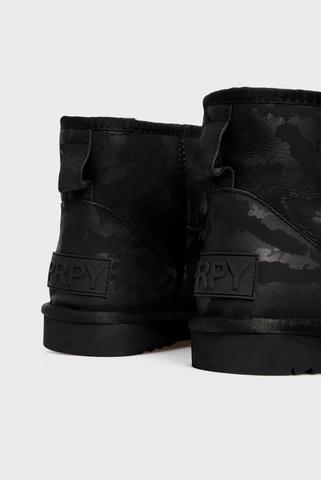 Мужские черные кожаные угги Dubbo PRPY