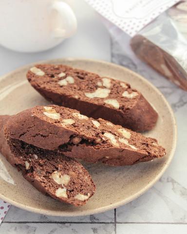 Кантуччини Шоколадные с грецким орехом и инжиром, 170гр