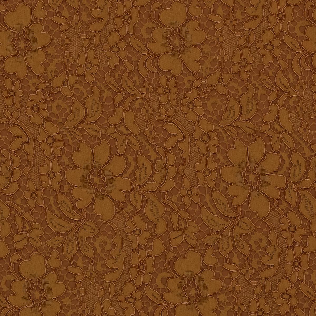 Хлопково-вискозное кордовое кружево горчичного цвета