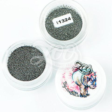 1324 Бульонки металлические чёрные 0.6 мм (10 г)