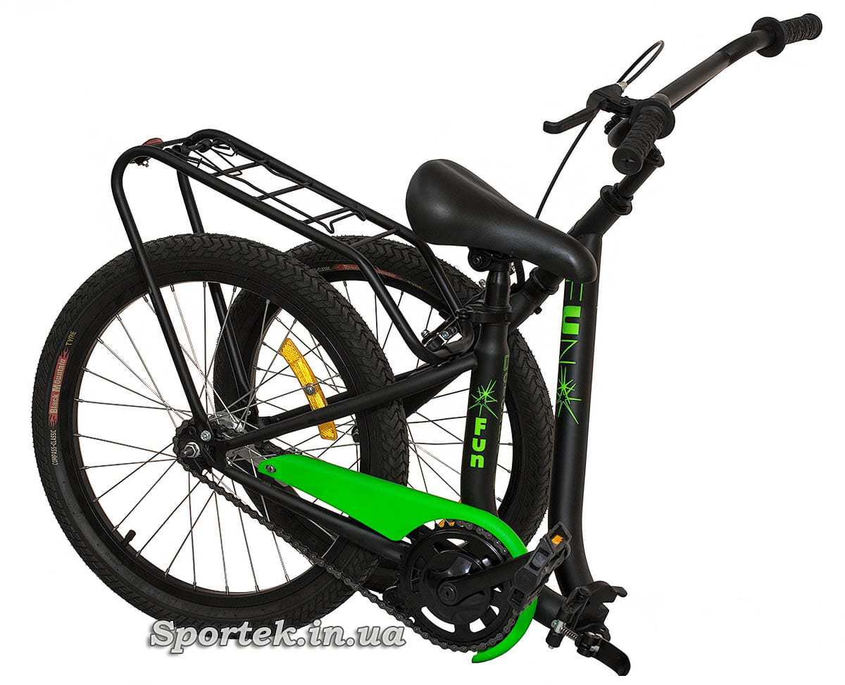 Вид на сложенный подростковый велосипед Dorozhnik Fun 2016