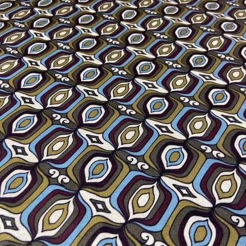Ткань шелк атласный с оливковым орнаментом 1198