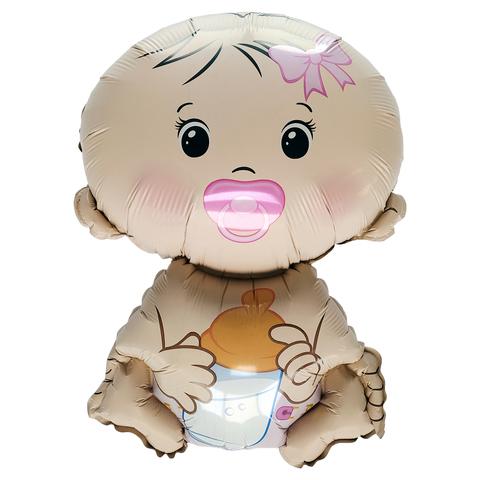 Фольгированный шар Карапуз-Девочка