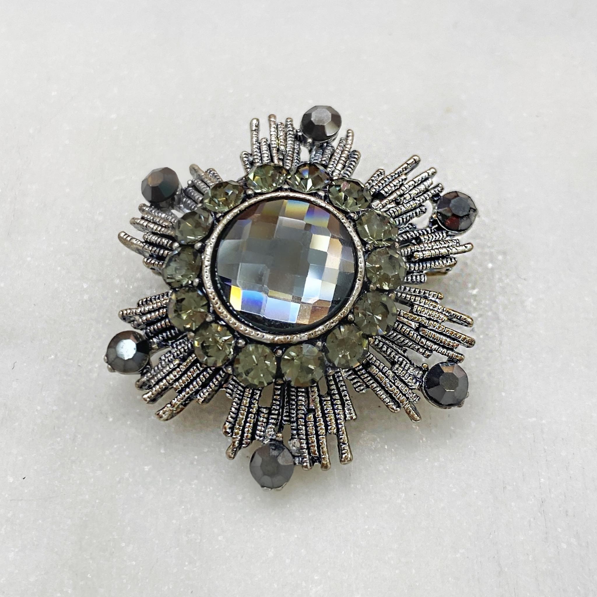 Брошь Орден Гвардейский серый серебряный