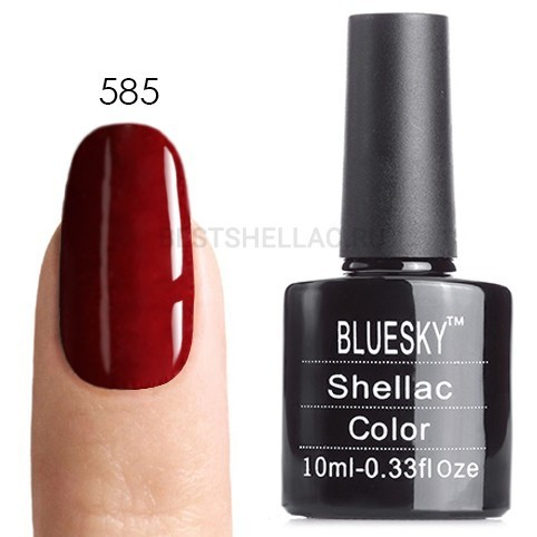 Bluesky Shellac 40501/80501 Гель-лак Bluesky № 40585/80585 Crimson Sash, 10 мл 585.jpg