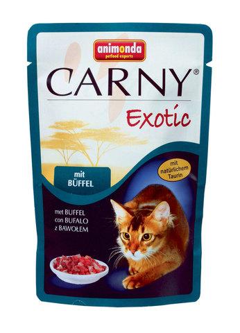 Паучи Animonda Carny Exotic с мясом буйвола для взрослых кошек