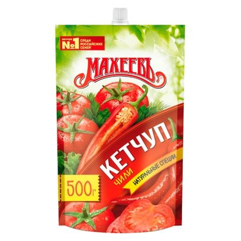 Кетчуп МАХЕЕВЪ Чили 500 г пл РОССИЯ