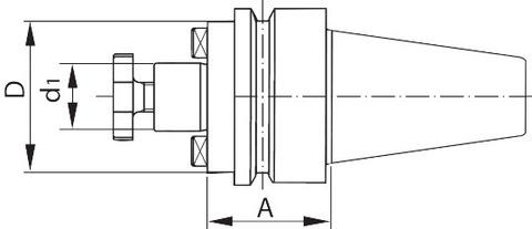 Оправка для насадной фрезы с каналом для подвода СОЖ, форма ADB BT 40 коротк.