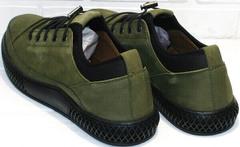 Мужские туфли кроссовки для прогулок по городу Luciano Bellini C2801 Nb Khaki.