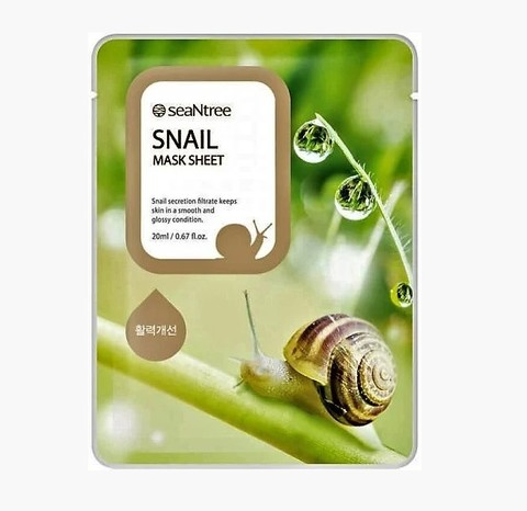SeaNtree Тканевая маска с экстрактом муцина улитки Snail Mask Sheet, 1 шт