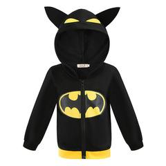 Черная толстовка Бэтмена с капюшоном