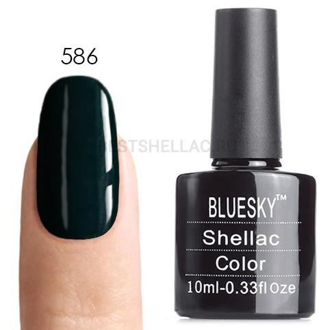 Bluesky Shellac 40501/80501 Гель-лак Bluesky № 40586/80586 Indigo Frock, 10 мл 586.jpg