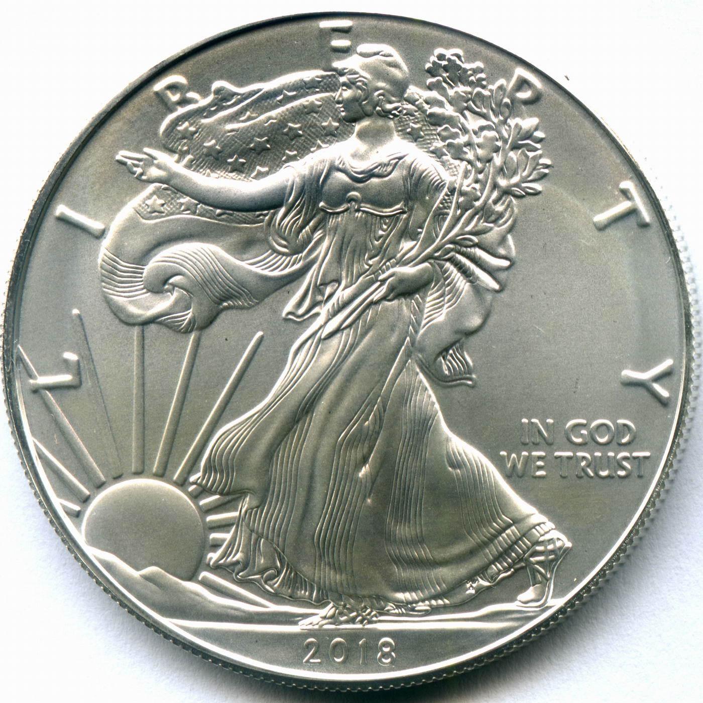 """1 доллар 2018 год США """"Шагающая свобода"""""""