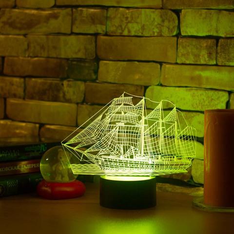 3D ночник Парусник
