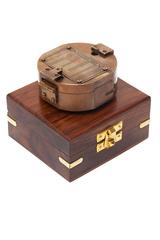 Компас  в деревянной подарочной коробке Secret De Maison ( mod. 11151 ) — античная медь/коричневый