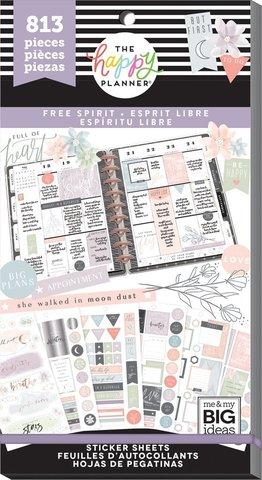 Блокнот со стикерами Value Pack Stickers - Free Spirit - 813 шт