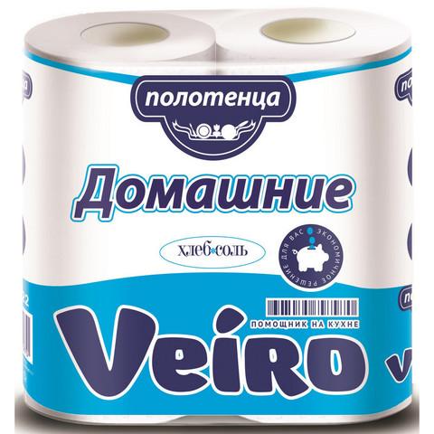 Полотенца бумажные Veiro Домашние 2-слойные белые 2 рулона по 12.5 метров