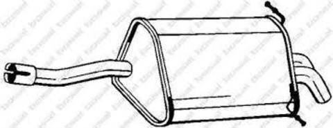 глушитель Mercedes C180-W203 / C180-T203 / C200-W203 / C200-T203