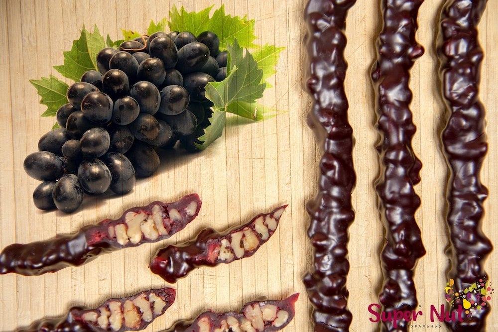 Чурчхела Чурчхела с грецким орехом и темным виноградом, SuperNut, 65 г import_files_66_6620ae8c296d11eba9d6484d7ecee297_7f262cf12efc11eba9d6484d7ecee297.jpg