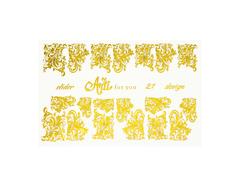 Фольга для дизайна ногтей цвет золото 21