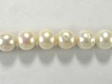 Бусина из жемчуга пресноводного культивированного белого, класс А, шар гладкий 9-10 мм