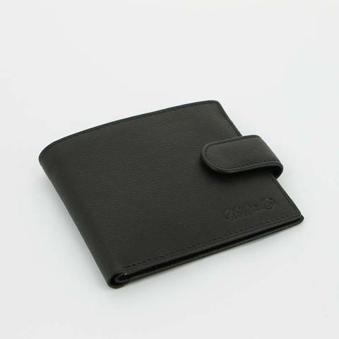 Портмоне классический S.Quire 4300-BK Soft черное наппа