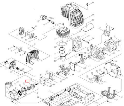 Диск стартера для лодочного мотора T3,5 Sea-PRO