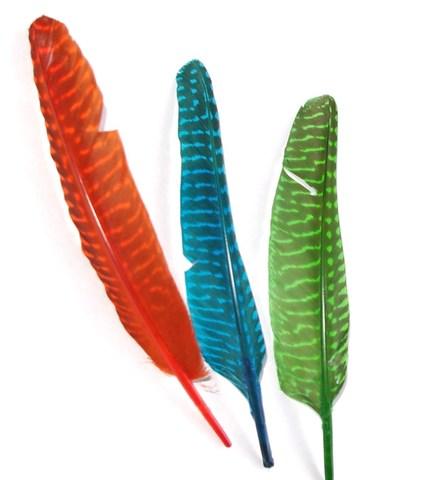 Перо декоративное ,  длина ок. 14-20 см. (выбрать цвет) Уценка!