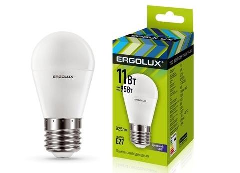 Лампа Ergolux LED-G45-11W-Е27-4K (холодный свет)