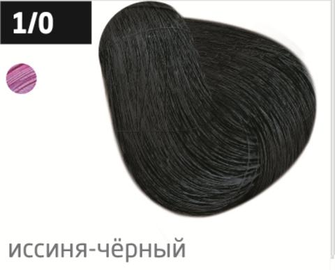 OLLIN color 1/0 иссиня-черный 100мл перманентная крем-краска для волос