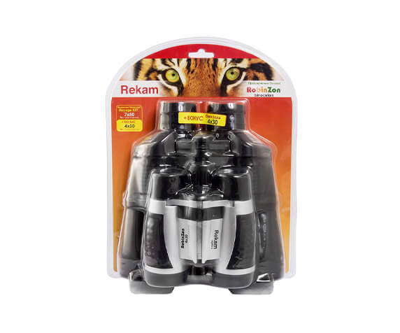 Комплект биноклей Rekam «Voyage Kit – RobinZon»: Voyage 7x50 и Voyage 4x30 - фото 1