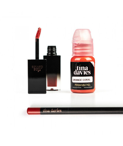 PERMA BLEND TINA DAVIES - ORANGE CORAL + Помада + Карандаш