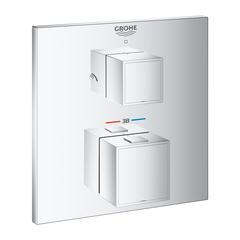 Термостат для душа встраиваемый на 2 потребителя Grohe Grohtherm Cube 24154000 фото