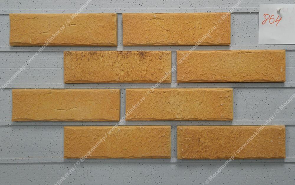 Roben - Aarhus, gelb carbon, NF14, 240x14x71 - Клинкерная плитка для фасада и внутренней отделки