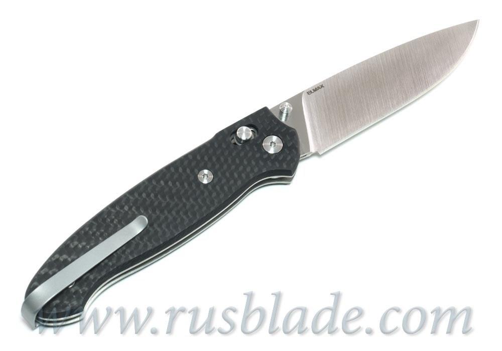 Cheburkov Scout Elmax Folding Knife Carbon Fiber Axis Lock Best Russian Knives - фотография
