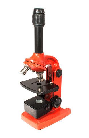 Микроскоп Юннат 2П-1 с подсветкой Красный