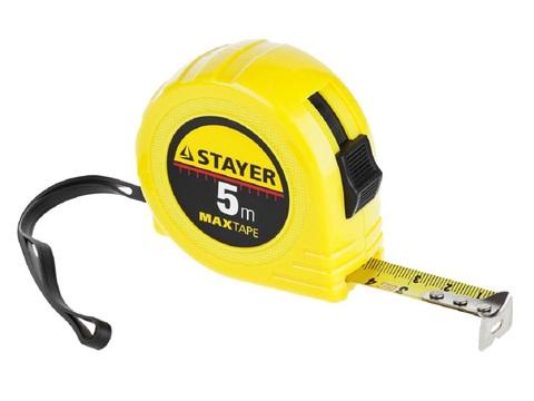 STAYER Standard 5м / 19мм рулетка в ударопрочном корпусе из ABS