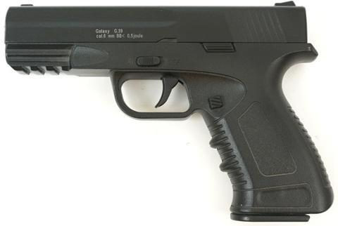 Страйкбольный пистолет Galaxy G.39 H&K, металлический, пружинный