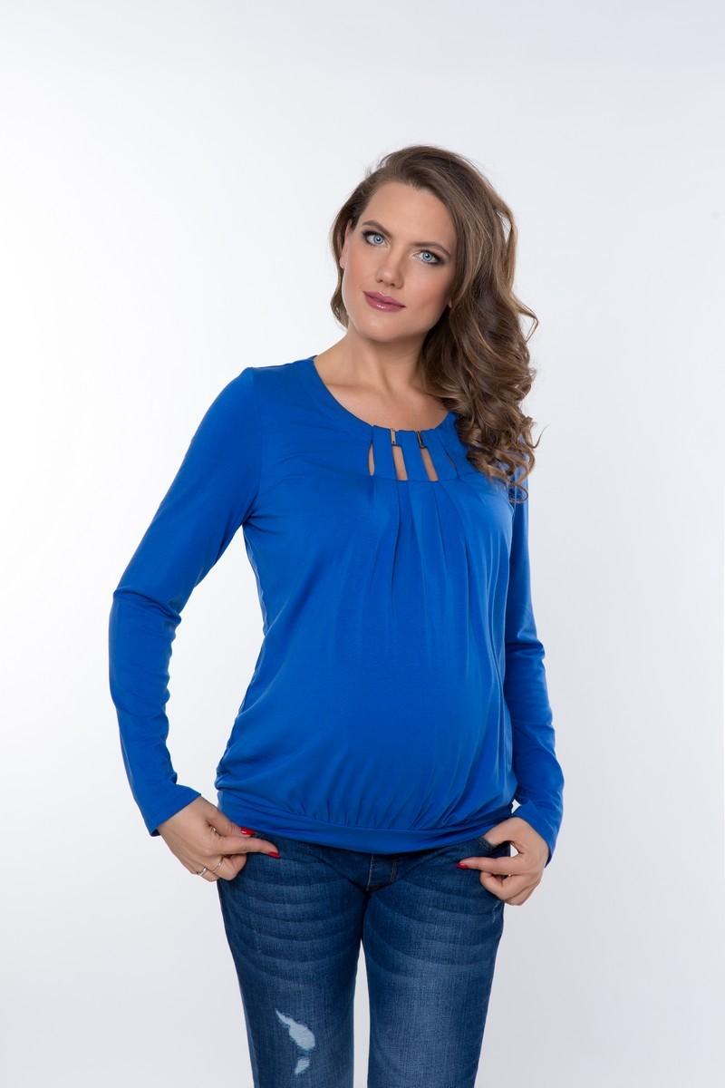 Блузка для беременных 01822 синий