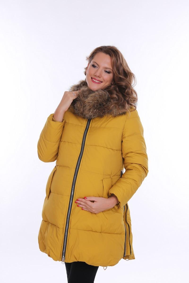 Куртка для беременных 09094 горчичный